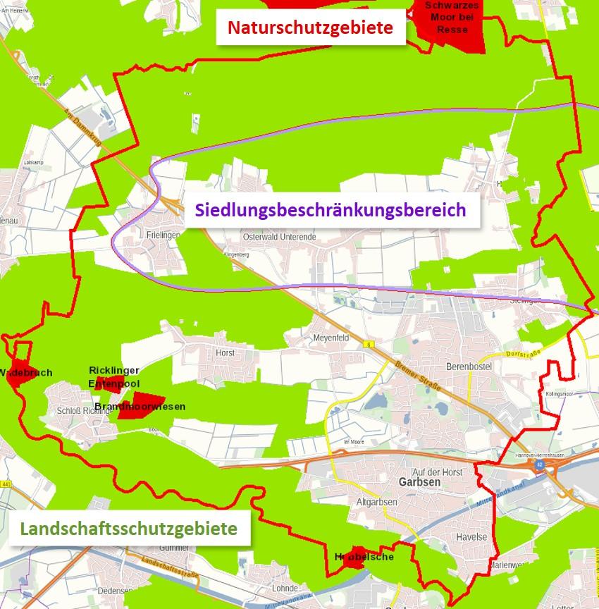 Siedlungsbeschränkungen in Garbsen